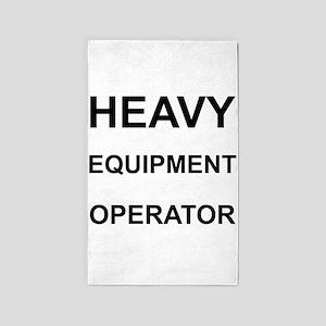 Heavy Equipment Operator 3'x5' Area Rug