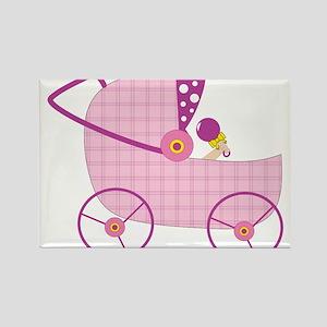 Baby Stroller Rectangle Magnet