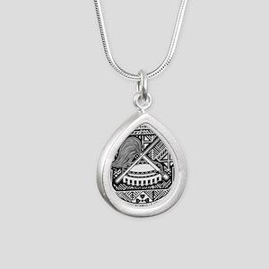 Seal of Territory of American Samoa Silver Teardro