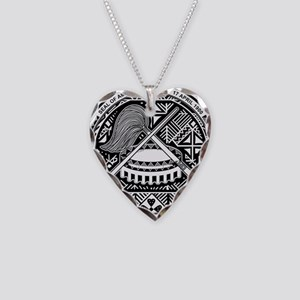 Seal of Territory of American Samoa Necklace Heart