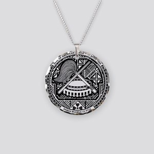 Seal of Territory of American Samoa Necklace Circl