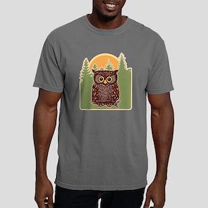 Hoot Owl Forest Mens Comfort Colors Shirt