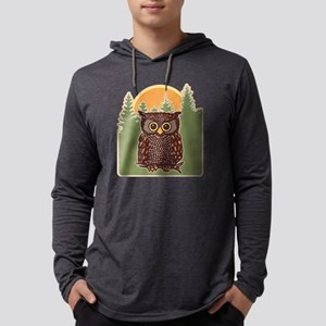 Hoot Owl Forest Mens Hooded Shirt