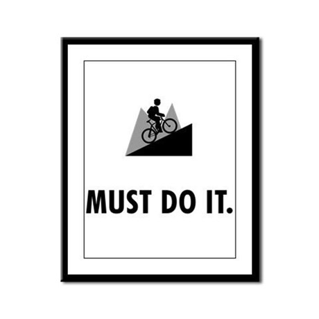 Mountain Biking Framed Panel Print