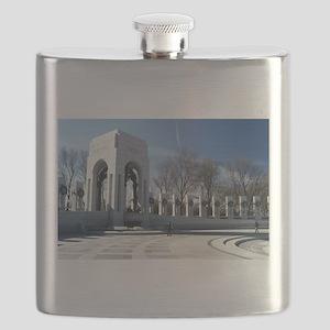 WWII memorial - horizontal Flask