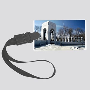 WWII memorial - horizontal Large Luggage Tag