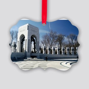 WWII memorial - horizontal Picture Ornament