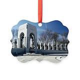 Wwii memorial Aluminum Ornaments