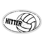 Hitter Volleyball Auto Sticker (Oval)