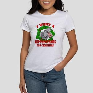 Hippopotamus for Christmas Women's T-Shirt