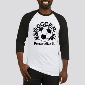 Personalized Soccer Flames Baseball Jersey