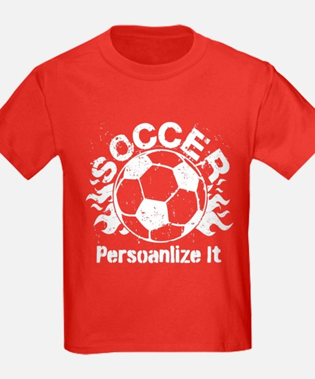Personalized Soccer Flames T