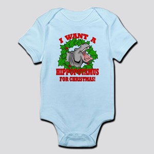 Hippopotamus for Christmas Infant Bodysuit