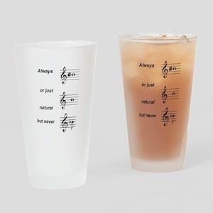 Always b Sharp Drinking Glass
