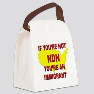 Immigration Canvas Lunch Bag