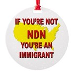 Immigration Round Ornament