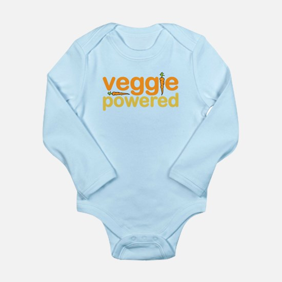 Veggie Powered Long Sleeve Infant Bodysuit