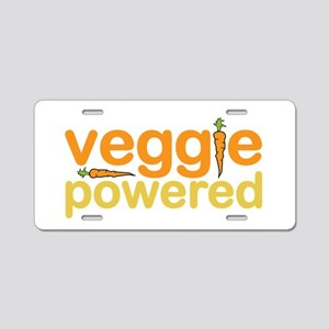 Veggie Powered Aluminum License Plate