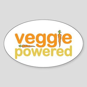 Veggie Powered Sticker (Oval)