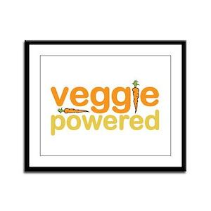 Veggie Powered Framed Panel Print