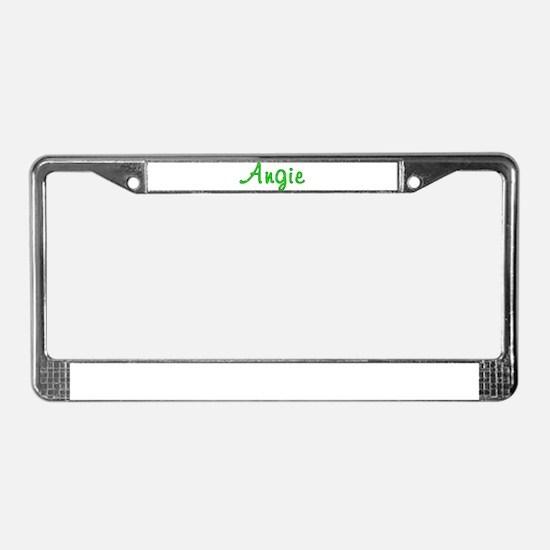 Angie Glitter Gel License Plate Frame
