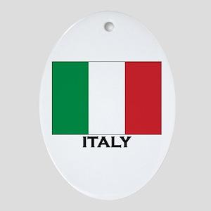 Italy Flag Stuff Oval Ornament