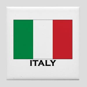 Italy Flag Stuff Tile Coaster