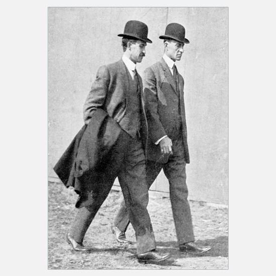 The Wright brothers, US aviation pioneers
