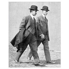 The Wright brothers, US aviation pioneers Poster