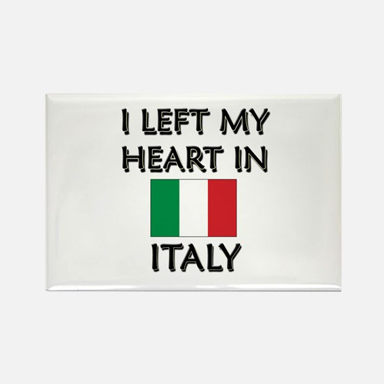 I Left My Heart In Italy Rectangle Magnet