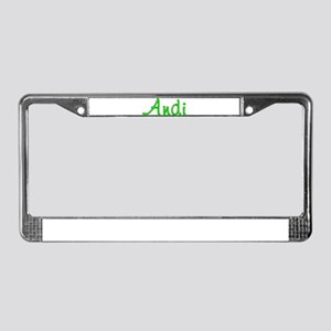 Andi Glitter Gel License Plate Frame
