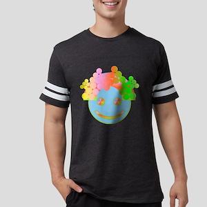 Rainbow Happy Face / Mens Football Shirt