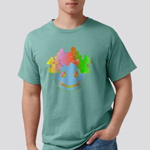 Rainbow Happy Face / Mens Comfort Colors Shirt