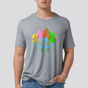 Rainbow Happy Face / Mens Tri-blend T-Shirt