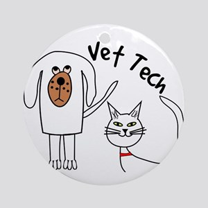Vet Tech dog and cat Ornament (Round)