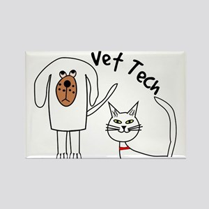 Vet Tech dog and cat Rectangle Magnet