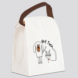 Vet Tech dog and cat Canvas Lunch Bag