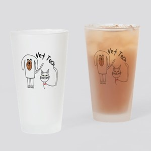 Vet Tech dog and cat Drinking Glass