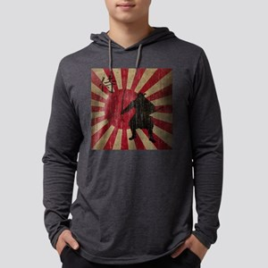 Vintage Samurai Mens Hooded Shirt