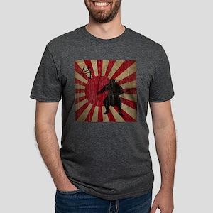 Vintage Samurai Mens Tri-blend T-Shirt