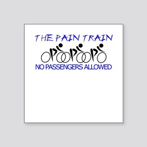 "The Pain Train (blue) Square Sticker 3"" x 3"""