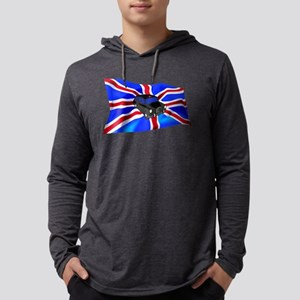 Black Cab Union Jack Mens Hooded Shirt