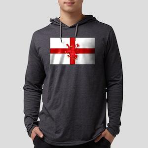 English Lion Flag Mens Hooded Shirt