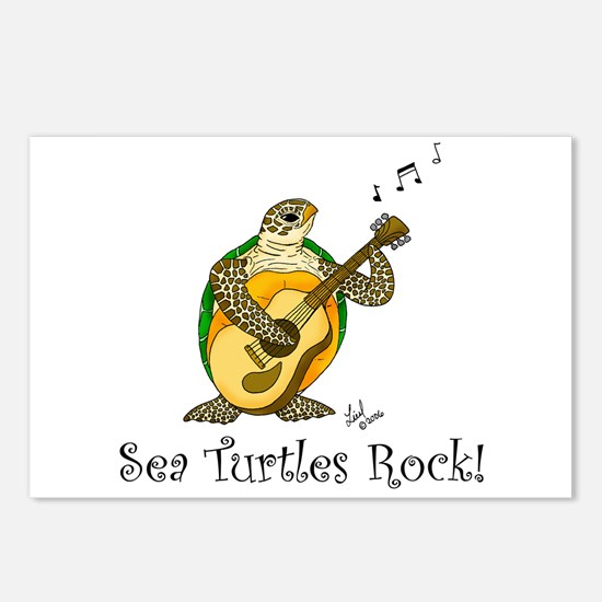 Sea Turtles Rock Postcards (Package of 8)