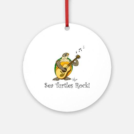 Sea Turtles Rock Ornament (Round)
