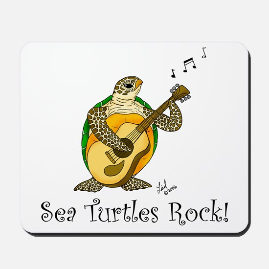 Sea Turtles Rock Mousepad