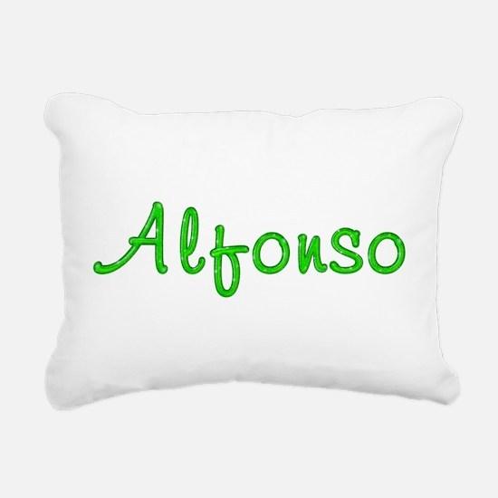 Alfonso Glitter Gel Rectangular Canvas Pillow