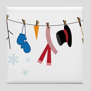 Snowman Clothing Tile Coaster