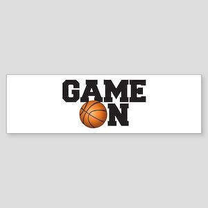 Game On Basketball Sticker (Bumper)