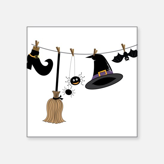 """Witch Clothing Square Sticker 3"""" x 3"""""""